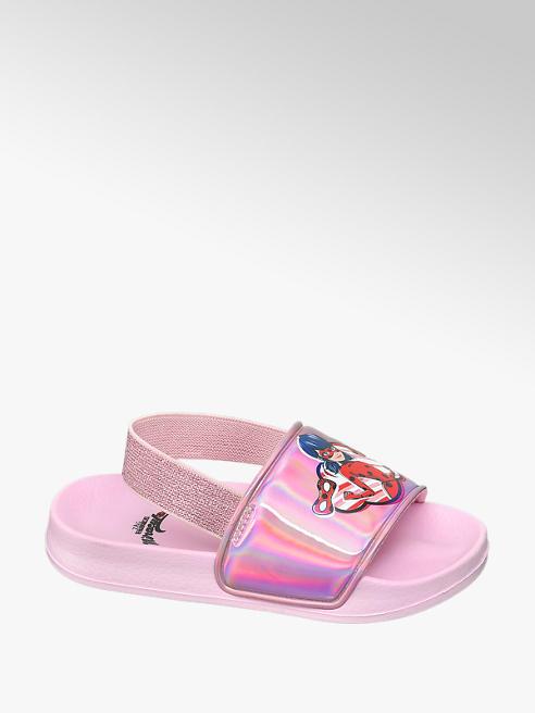 Miraculous Ružové plážové sandále Kúzelná Lienka a Čierny Kocúr