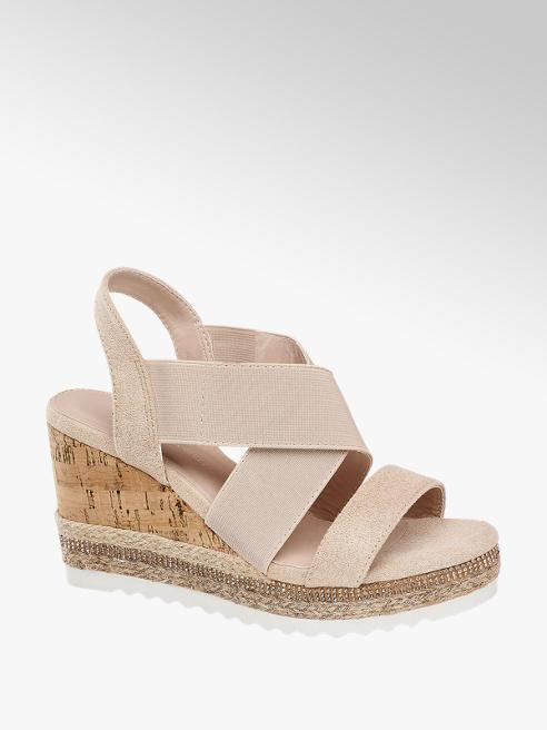 Claudia Ghizzani Ružové sandále na klinovom podpätku Claudia Ghizzani