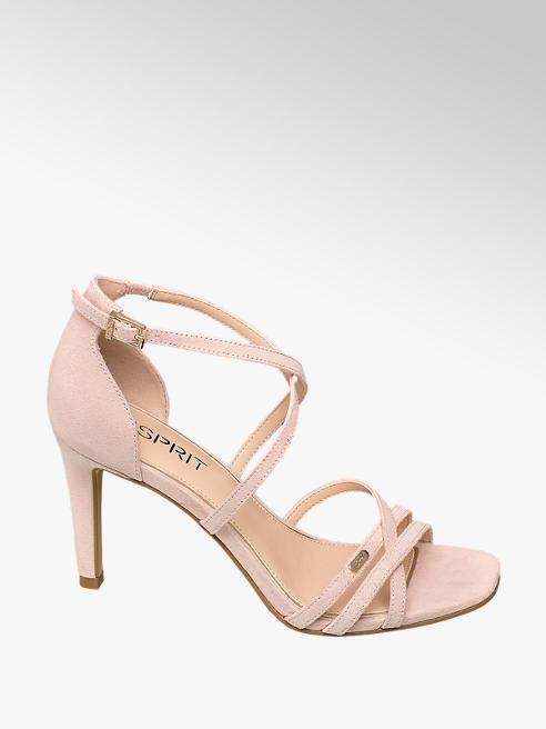 Esprit Ružové sandále na podpätku Esprit