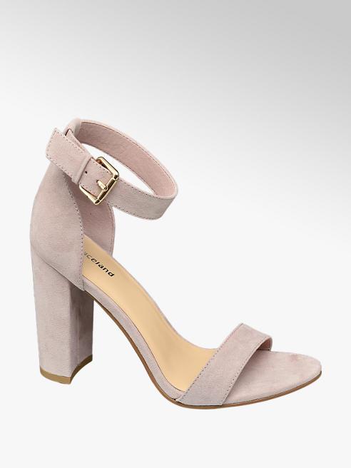 Graceland Ružové sandále na podpätku Graceland