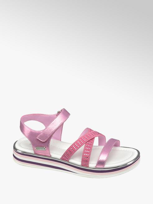 Esprit Ružové sandále na suchý zips Esprit