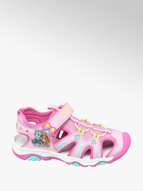 Paw Patrol Ružové sandále na suchý zips Labková patrola