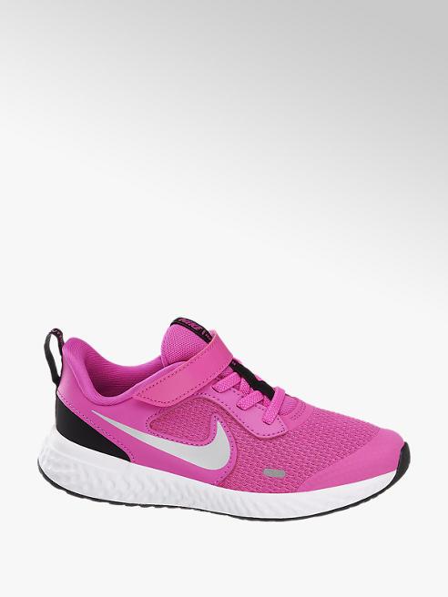 NIKE Ružové tenisky na suchý zips Nike Revolution 5