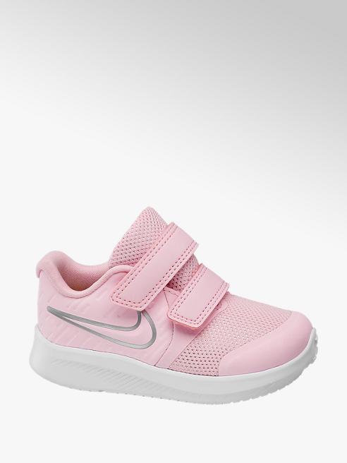 NIKE Ružové tenisky na suchý zips Nike Star Runner 2