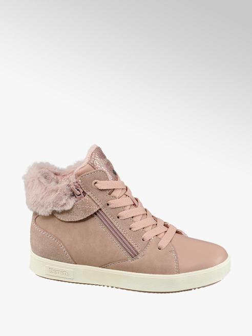 Bench Rózsaszín bélelt magasszárú gyerek cipő