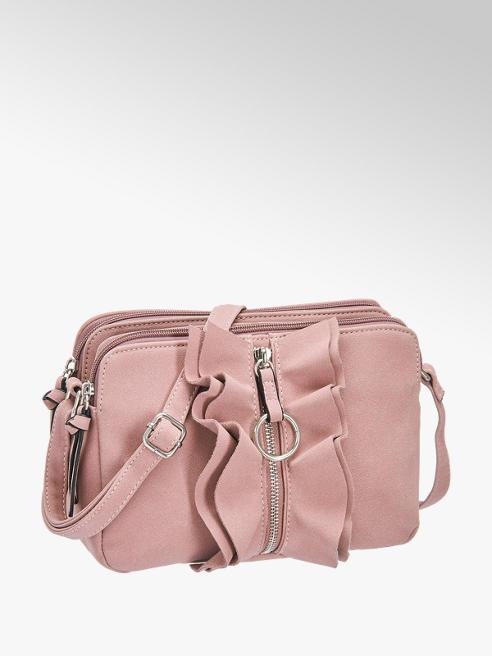Graceland Rózsaszín fodros oldaltáska