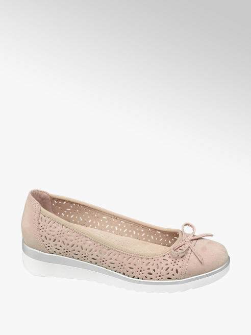 Easy Street Rózsaszín kényelmi balerina
