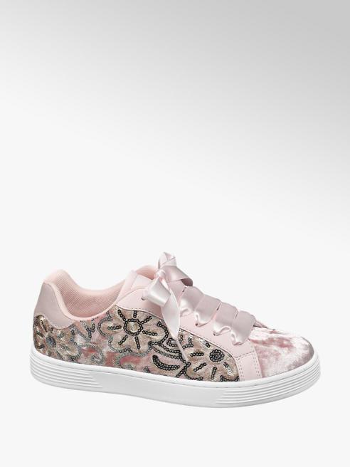 Graceland Rózsaszín sneaker szatén fűzővel