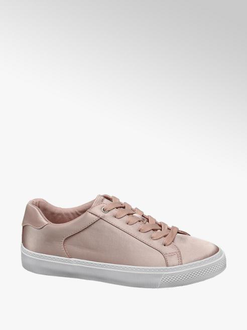 Graceland Rózsaszín szatén sneaker