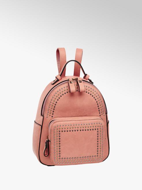 Graceland Rózsaszín szegecses hátizsák