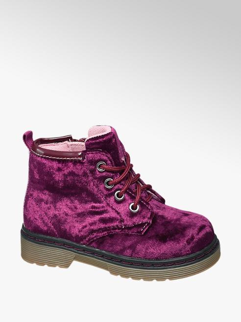 Cupcake Couture Sametová dívčí šněrovací obuv