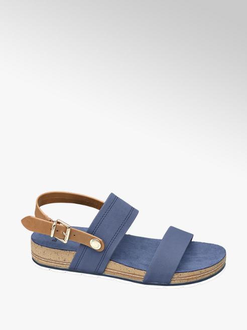 Bench Sandaletto blu con fasce