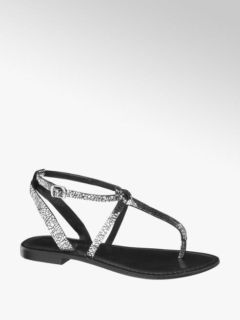 Vero Moda Sandaletto infradito nero e argento