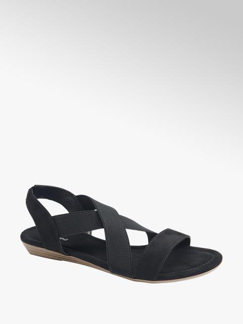 Graceland Sandaletto nero con elastici