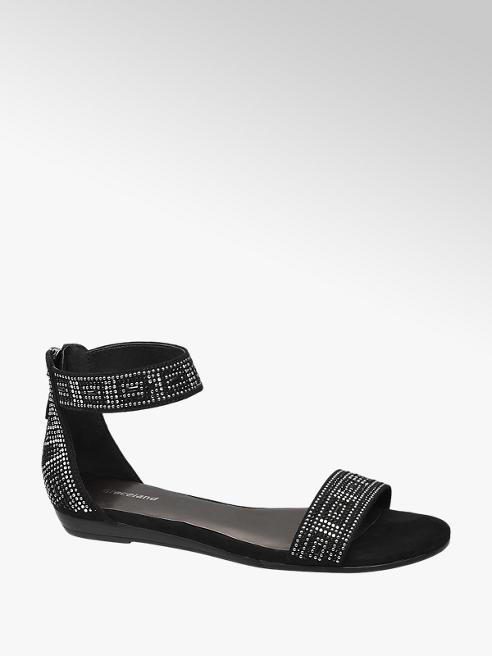 Graceland Sandaletto nero con punti luce