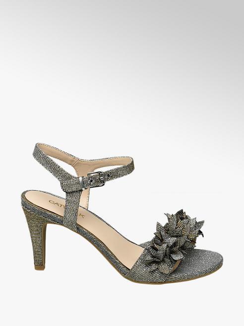 Catwalk Sandalo argento con tacco