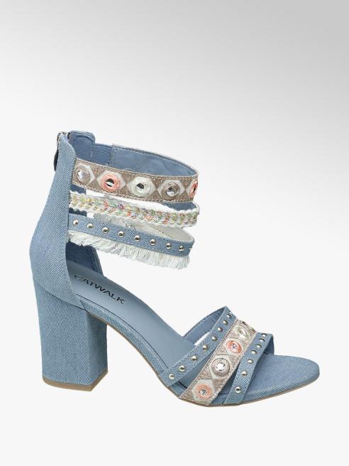 Catwalk Sandalo azzurro con tacco largo