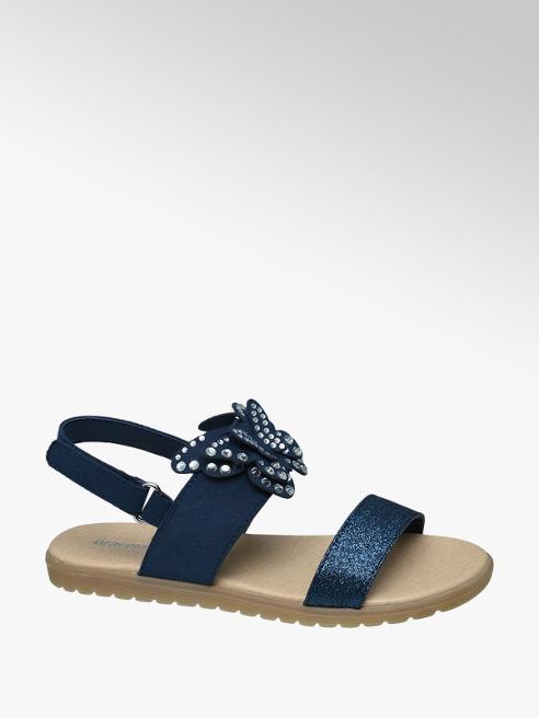 Graceland Sandalo blu con glitter
