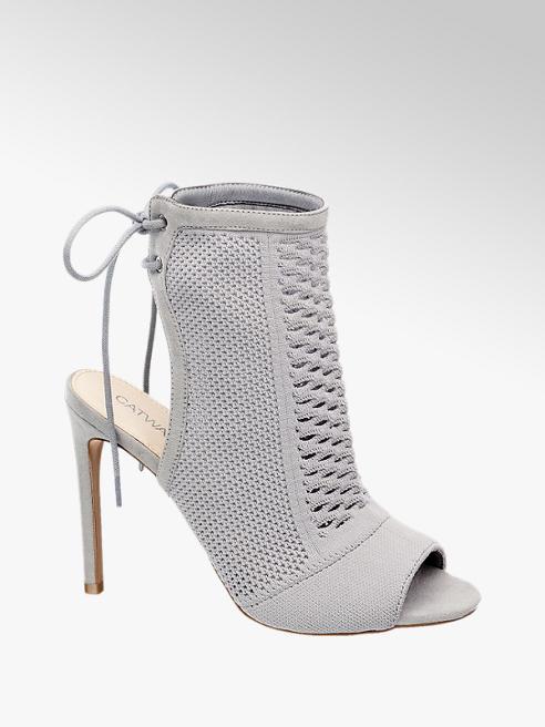 Catwalk Sandalo grigio con tacco a spillo