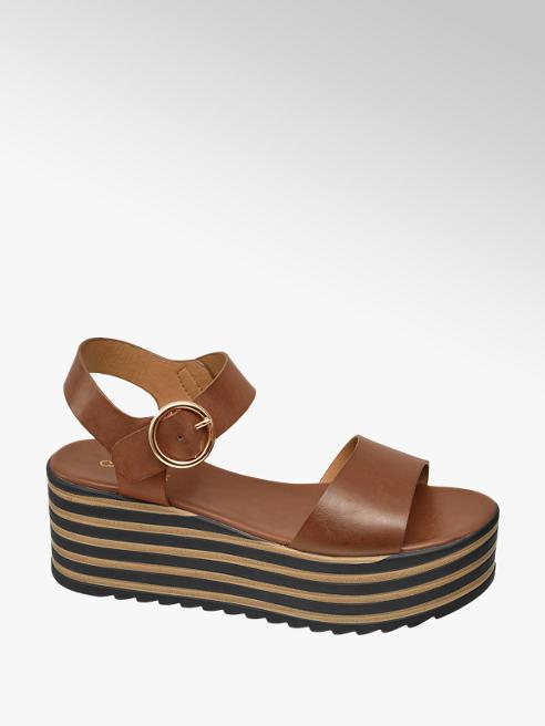 Catwalk Sandalo marrone con plateau