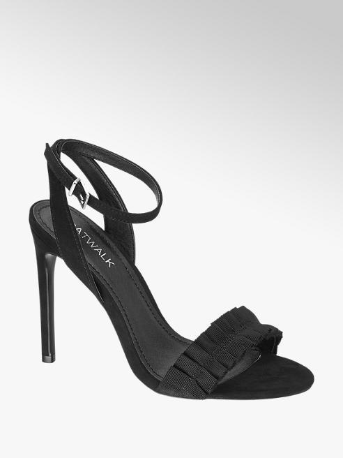 Catwalk Sandalo nero con cinturino alla caviglia