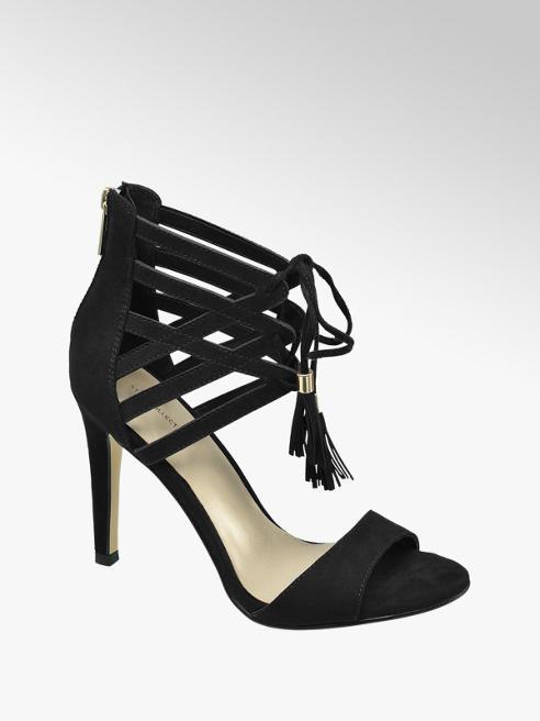Catwalk Sandalo nero con intreccio