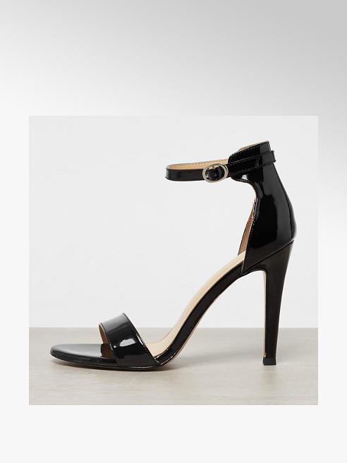Catwalk Sandalo nero con tacco a spillo