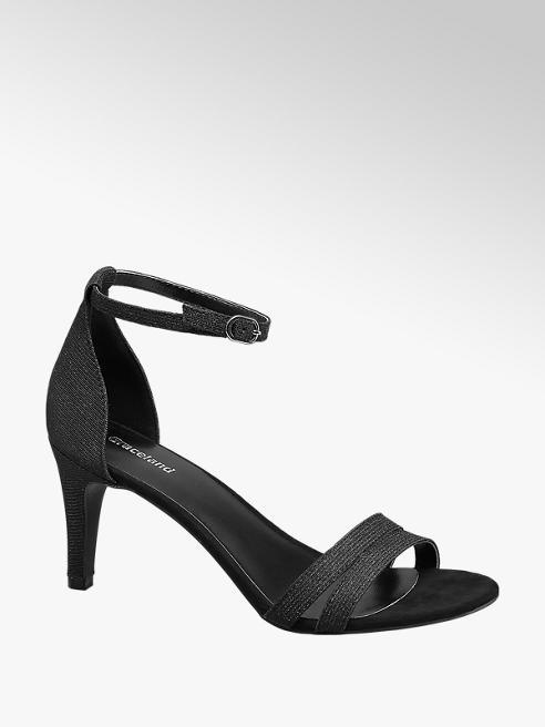 Graceland Sandalo nero con tacco a spillo