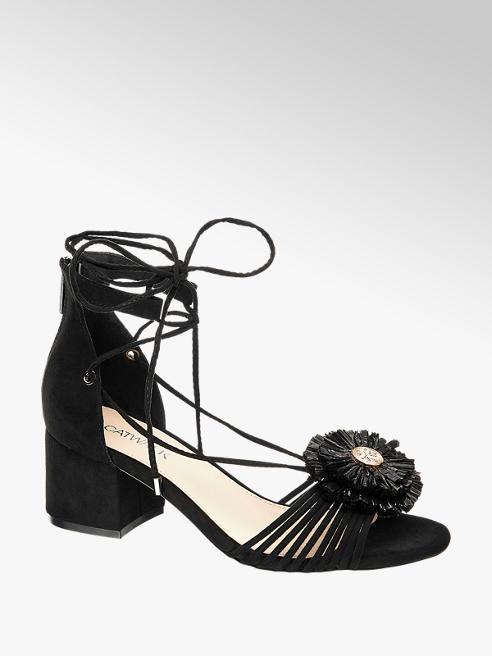 Catwalk Sandalo nero con tacco largo