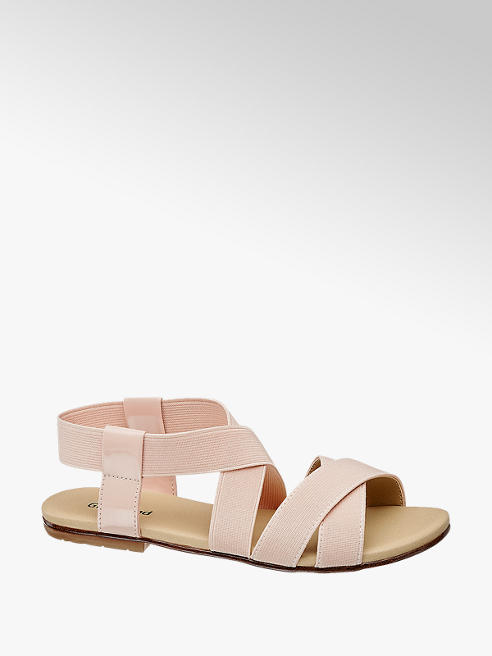Graceland Sandalo rosa con fasce elastiche