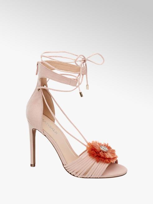 Catwalk Sandalo rosa con tacco a spillo