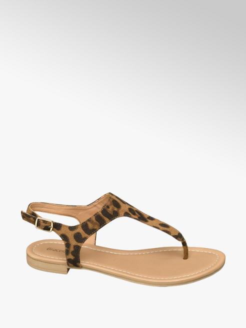 Graceland Sandále s leopardím vzorom