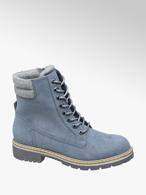 Catwalk Scarponcino blu con lacci