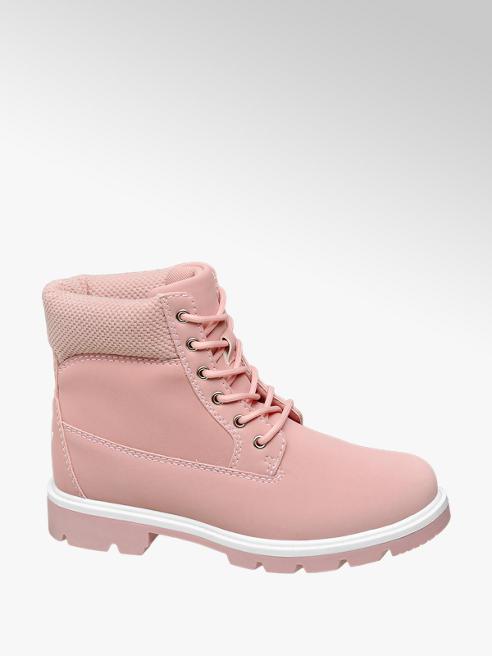 Vty Scarponcino rosa con lacci