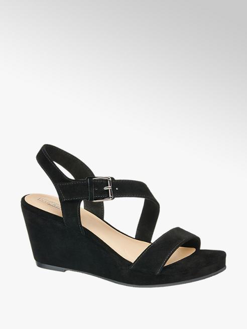 5th Avenue Semišové sandále na klinovom podpätku