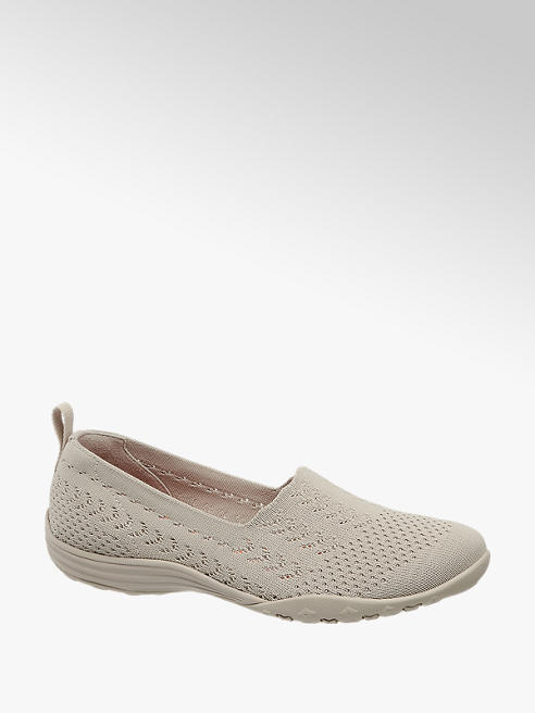 Skechers Ballerinas in Grau mit Knitted Optik