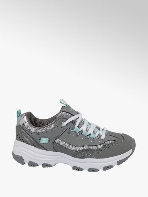 Skechers Ladies Skechers Chunky Grey Lace-up Trainers