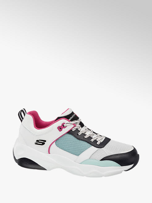 Skechers Ladies Skechers White/ Multicoloured Lace-up Trainers