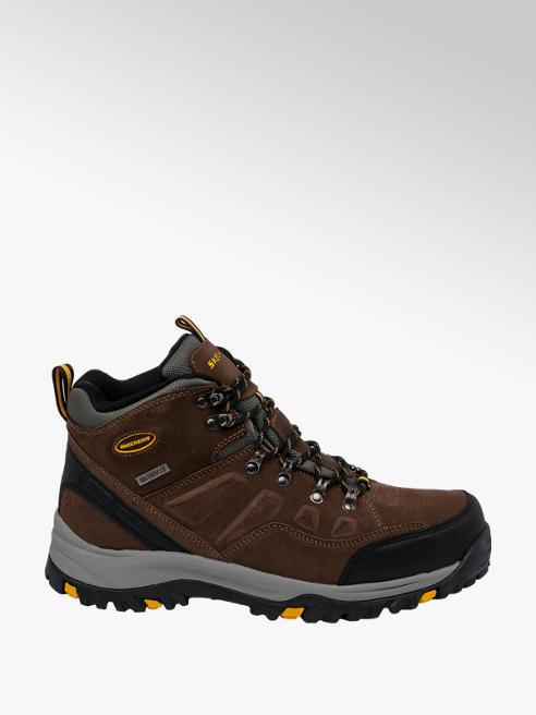 Skechers Mens Skechers Khaki Leather Waterproof Boots