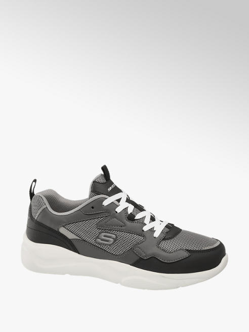 Skechers Mens Skechers Meridian Grey Lace-up Trainers