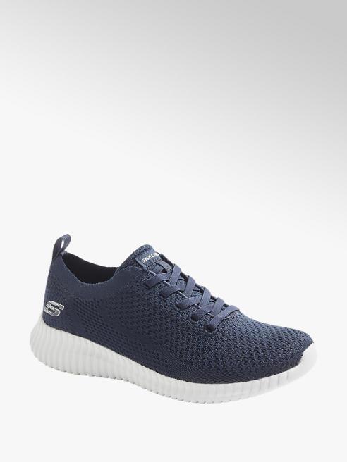 Skechers Slip On Sneaker SOCIAL MUSE in Blau mit Knitted-Optik
