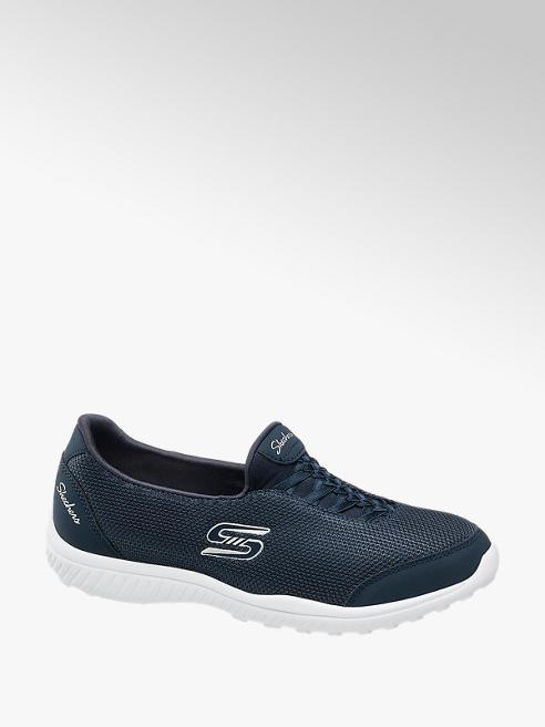 Skechers Slip on Sneaker in Blau