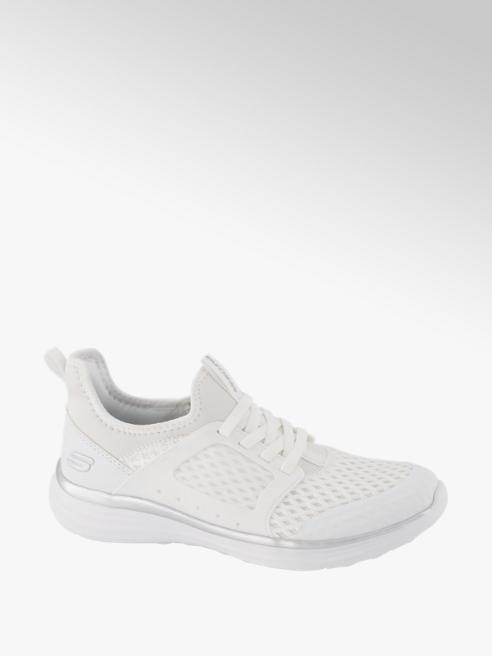 Skechers Sneaker in Weiß mit silbernen Details