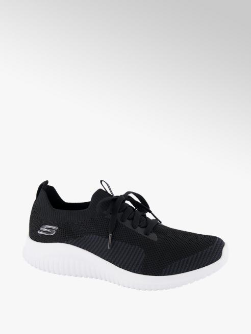 Skechers Sock Sneaker in Schwarz mit Schnürung