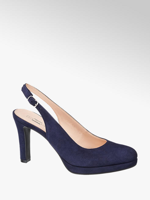 5th Avenue Slingback Läderpumps