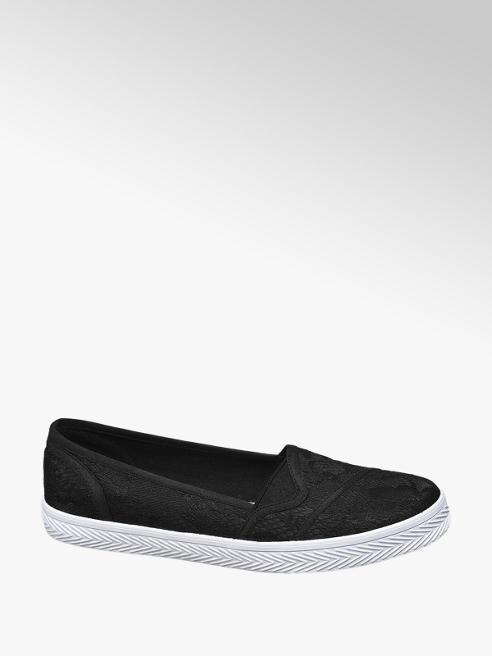 Vty Slip-on obuv s čipkou