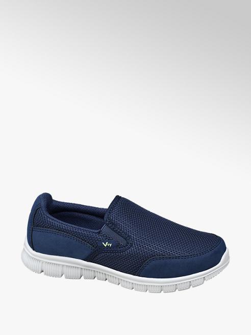 Vty Slipper in mesh blu