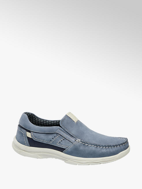 AM SHOE Slipper in pelle blu