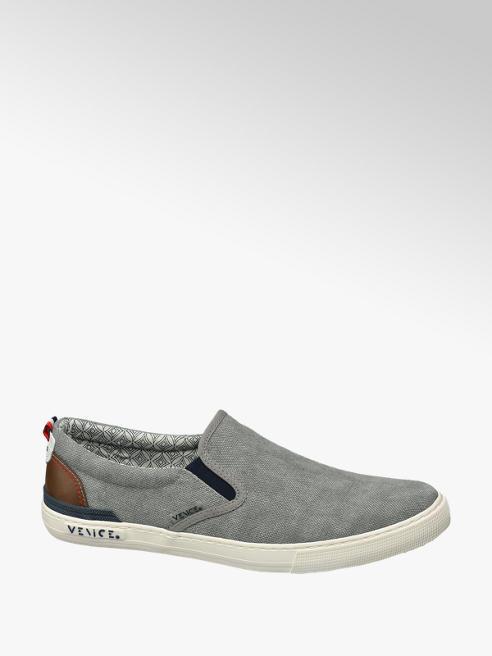 Venice Slipper in tessuto grigio