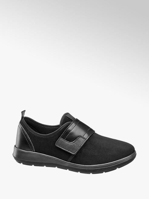 Easy Street Slipper nero con velcro
